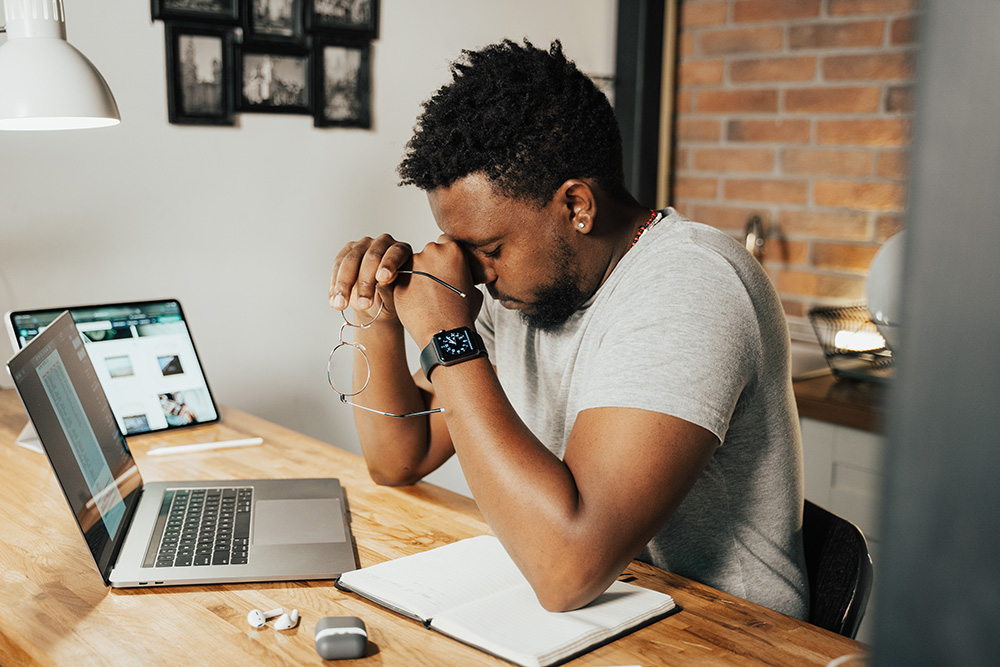 The stress of working from home, sitting at a computer all day, and meetings can play havoc on the body and the mind.
